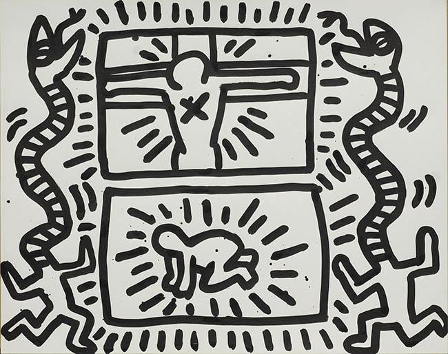 Keith Haring, Self-Portrait with Rust